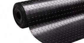 Non-slip rubber flooring for commercial premises