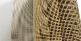 Glass fibre mesh coated with PTFE