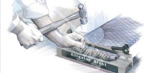 Alligator Rivet - įrankis ruloninių presų jungtims užkalti