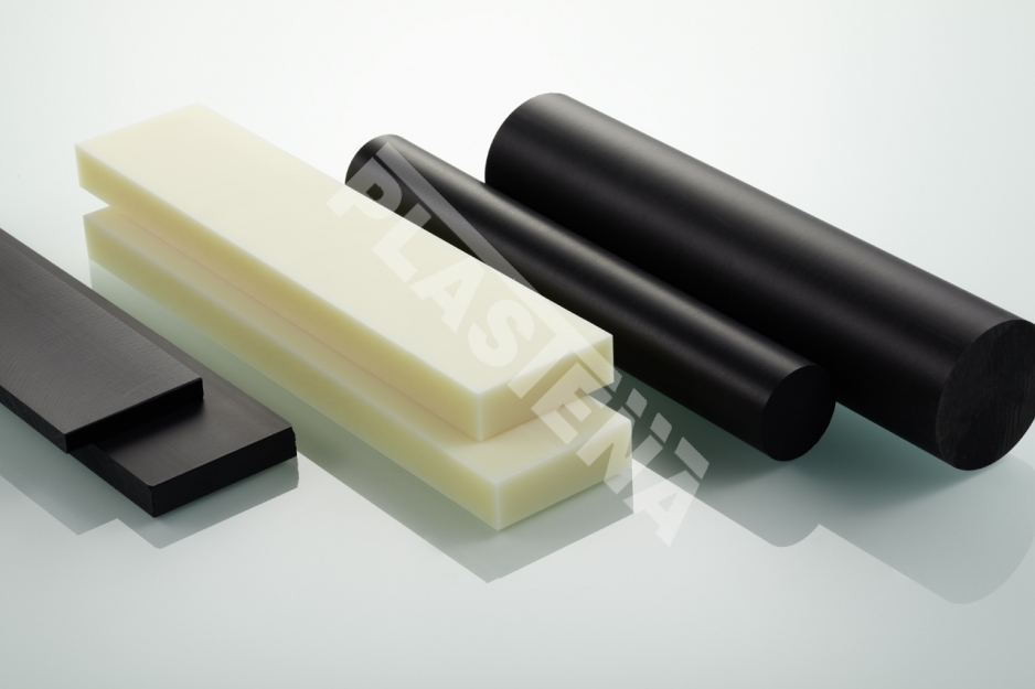 Polyamide (PA) sheets, rods, sleeves, films- rigid plastic, resistant to high loads, features good mechanical characteristics. Low friction coefficient, resistant to lubricants, salts, alkalis, and lamp oil.