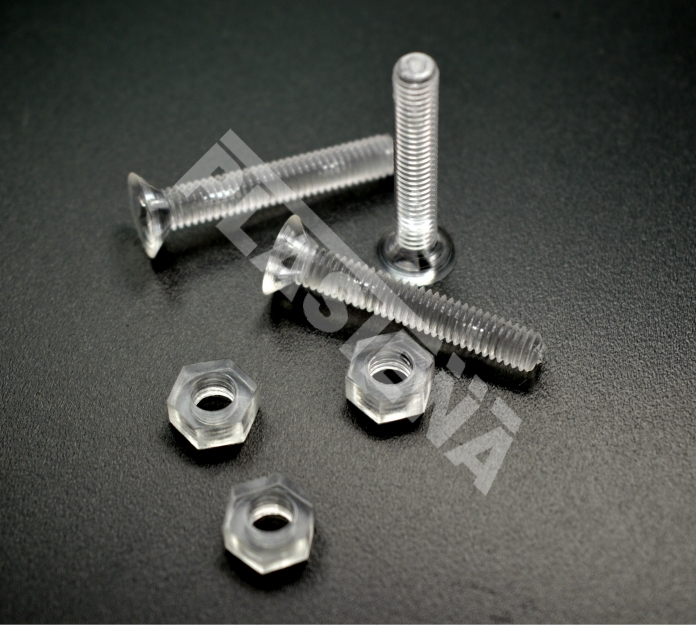Acrylic glass accessories PMMA bolt and screw