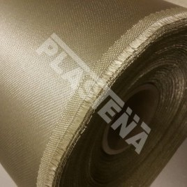 Glass-fibre fabrics coated with silica