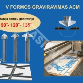 Freza cnc staklėms crown norge tools