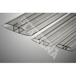 Multiwall polycarbonate sheets used in constructions of roofs and walls, shelters, greenhouses, canopies, winter gardens.