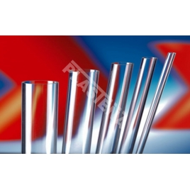 Acrylic glass (PMMA) rods, sheets, tubes has excellent optical properties, UV resistance, durability, easy to process mechanically. Rigid plastic that resists breakage better than glass.