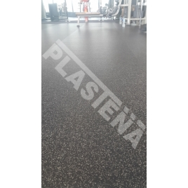 Rubber flooring for sports, gyms, shops halls